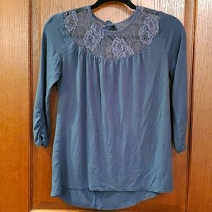 Maurices Mid Length Sleeve Shirt with Lace